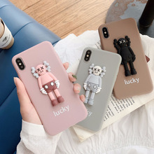 Stereo doll violent bear cartoon cute phone case for iPhone X XS XR XSMax 8 7 6 6S PluS soft shell drop protection cover