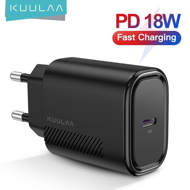 Зарядное устройство KUULAA USB Type C, 18 Вт 1