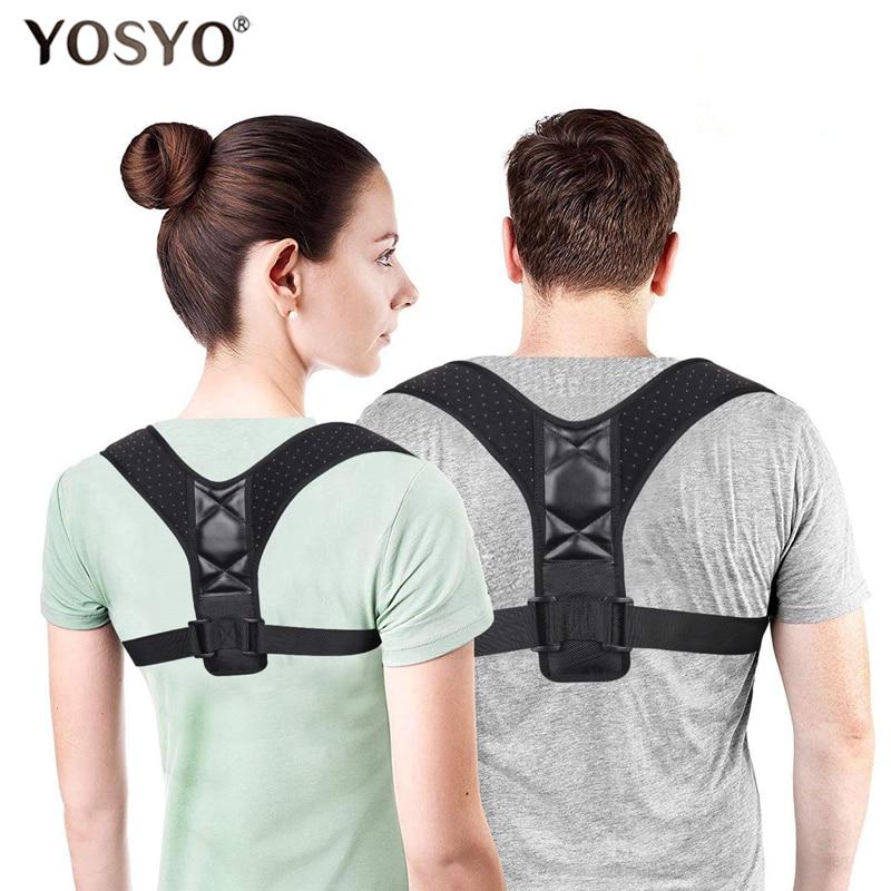 YOSYO Adjustable Back Posture Corrector Spine Back Shoulder Lumbar Brace Support Belt Posture Correction Back Blet No Slouching