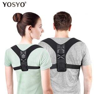 YOSYO Adjustable Back Posture Corrector Spine Back Shoulder Lumbar Brace Support Belt Posture Correction Back Blet No Slouching(China)