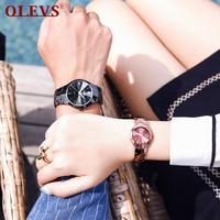 OLEVS Switzerland new pure tungsten steel with quartz lovers watches valentine gift lovers fashion simple temperament watches
