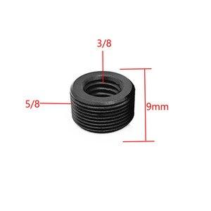 """Image 3 - 3/8 """"a 5/8"""" da maschio a femmina da 1/4 """"a 5/8"""" filetto adattatore per montaggio a vite piastra per treppiede montaggio a vite per supporto per treppiede Flash per fotocamera"""