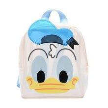 Mochila Disney de pato Donald para niños, bonita mochila escolar de gelatina, superfuego, salvaje, para niños y niñas