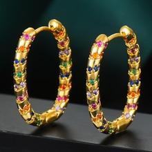GODKI 2020 Luxury Vintage Statement Hoop Earrings For Women Wedding Cubic Zircon DUBAI Bridal Round Circle Hoop Earrings 2019