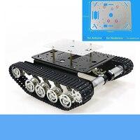 Metal Shock Absorbing Tank Chassis TS100 Smart Crawler Robot Platform Free Acrylic Panel For Arduino/NodeMCU/Raspberry Pi DIY