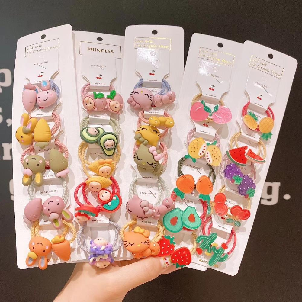 New Fruit Cute Hair Rope Children Baby Elastic Hair Rubber Bands Accessories Kids Girl Hair Tie Hair Ring Accessories Scrunchie