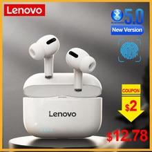 Lenovo – écouteurs sans fil Bluetooth LP1S TWS, casque d'écoute stéréo avec micro, HiFi, musique, pour Android et IOS, nouvelle version améliorée