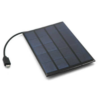 DC Solar Panel 400mA 2W 5V USB Micro Output Battery Charger 5