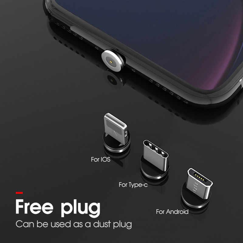 Forte Cabo De Carregamento Magnético Tipo-C Micro Tipo de Cabo USB Para iOS Telefone Móvel de Carga Rápida USB C C USBC Cabo Micro Para Android