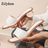 Eilyken taille 35-43 cristal clair ballon rond talons pantoufles femmes été plage Peep orteil diapositives chaussures femme tongs sandales