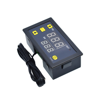 Termostato de pantalla LED con Control Digital de temperatura W3230, 12V, 24V, línea de sonda de AC110-220V, 20A, con instrumento de Control de calor/refrigeración 2