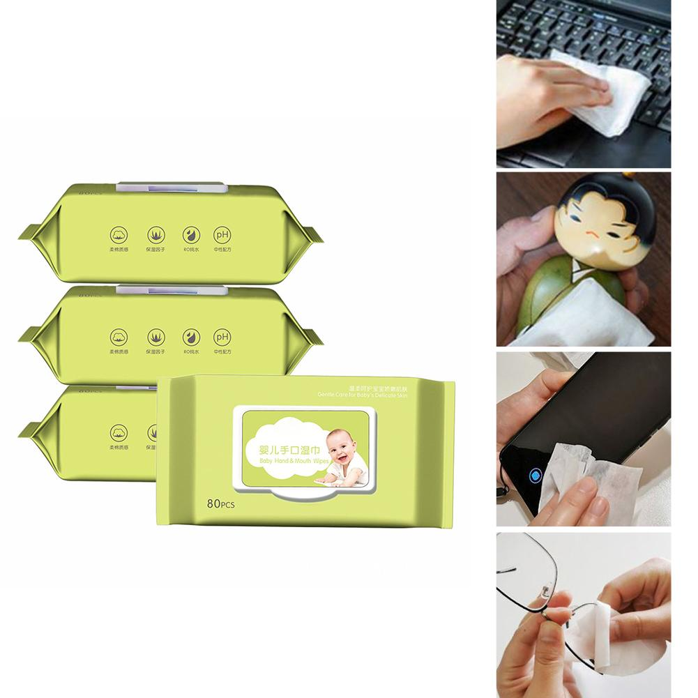 80PCS/Pack 75% Alcohol Wipes 99% Sterilization Portable Disinfection Clean Disposable Alcohol Disinfection Wipes