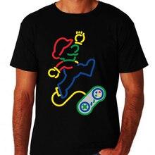 Clásico Mario Retro controlador de jugador Nerd Geek Arcade ordenador hermanos camiseta Tops camiseta vintage gráfico