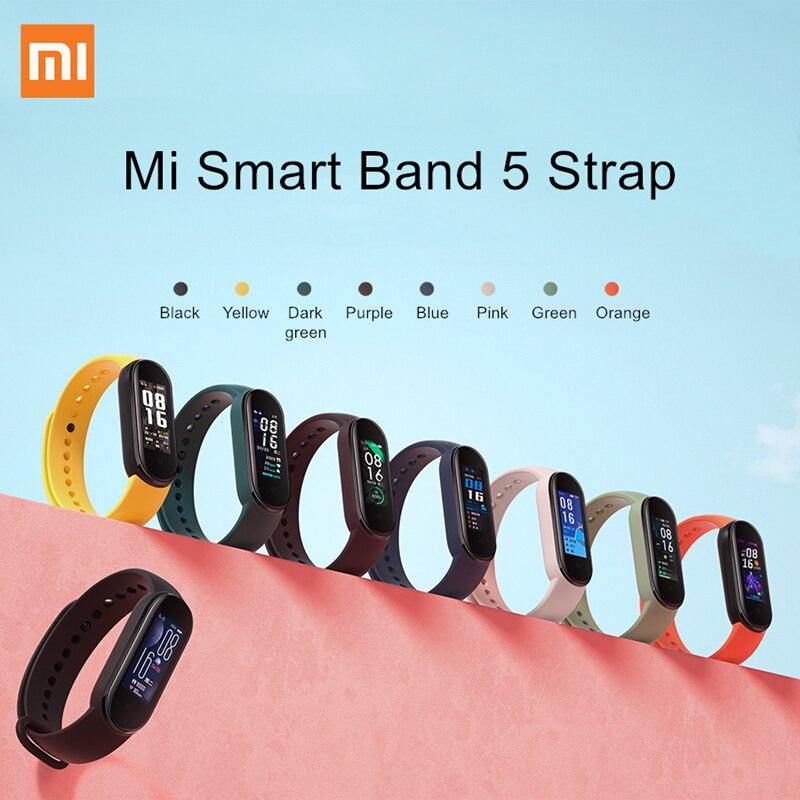 Оригинальный силиконовый ремешок для Xiaomi Mi Band 5, сменный Браслет Для Xiaomi Mi Band 5
