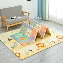 Esteira do jogo do bebê à prova ddouble água xpe piso macio dupla face dobrável educacional rastejando tapete criança jogo atividade cobertor dobrável