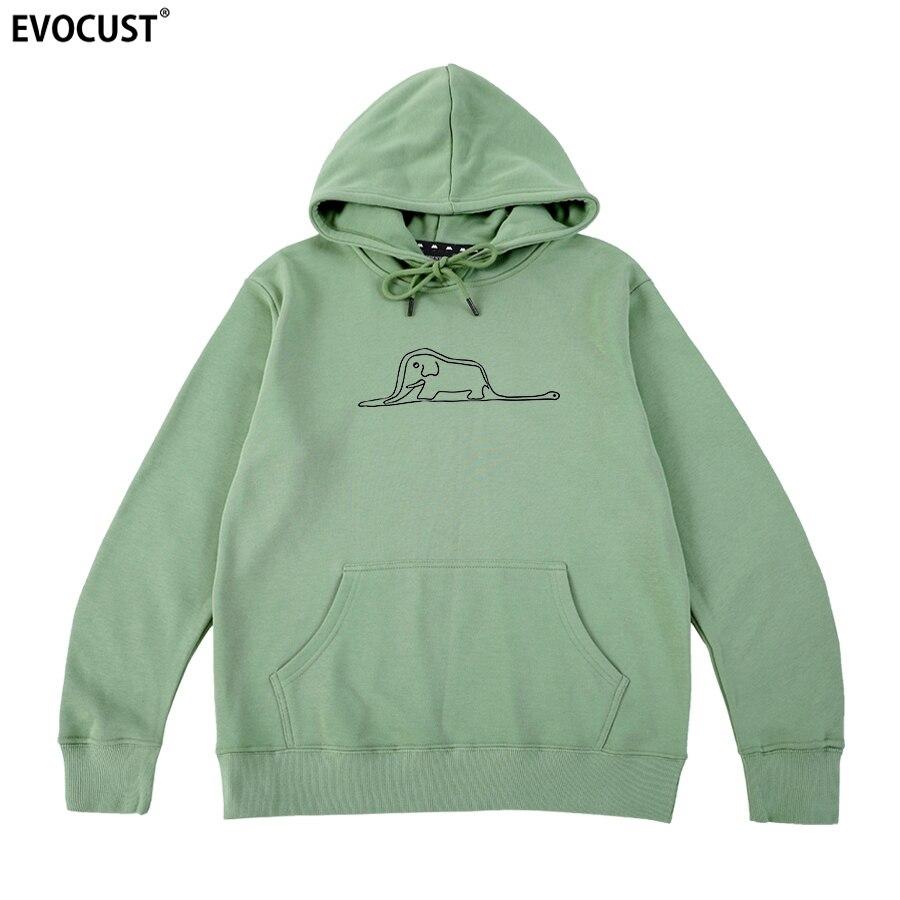 The Little Prince Boa Constrictors Eating An Elephant Men Hoodies Sweatshirts Women Unisex Combed Cotton