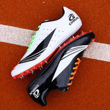 Track and Field Spike Shoes Men Training Athletic Shoe  Professional Running Track Race Jumping Mens Light  Breathable Sneakers