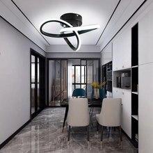 Led tavan ışık Modern Minimalist balkon koridor lamba ev koridor odası kanal tavan lambası İskandinav Ins mutfak tavan ışıkları