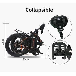 Image 4 - Aoستيرموتور دراجة كهربائية 500 واط 4.0 الدهون الإطارات كروزر شاطئ الداعم دراجة كهربائية 36 فولت بطارية ليثيوم للطي الرجال النساء ebike