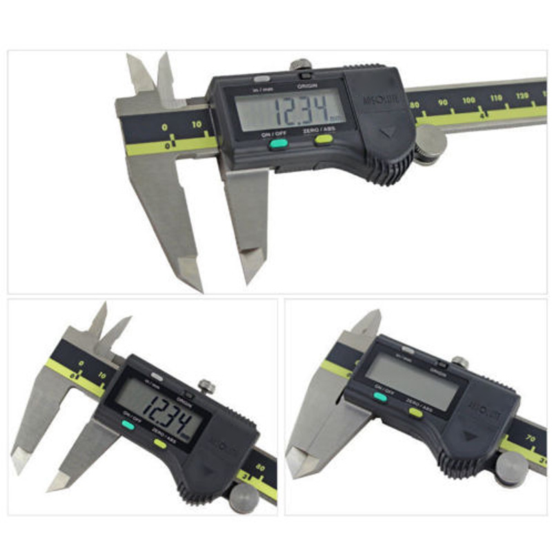 1X Hardened stainless steel Vernier Caliper 500-196-20/30 150mm Absolute Digital Digimatic Measure Tools LCD readout