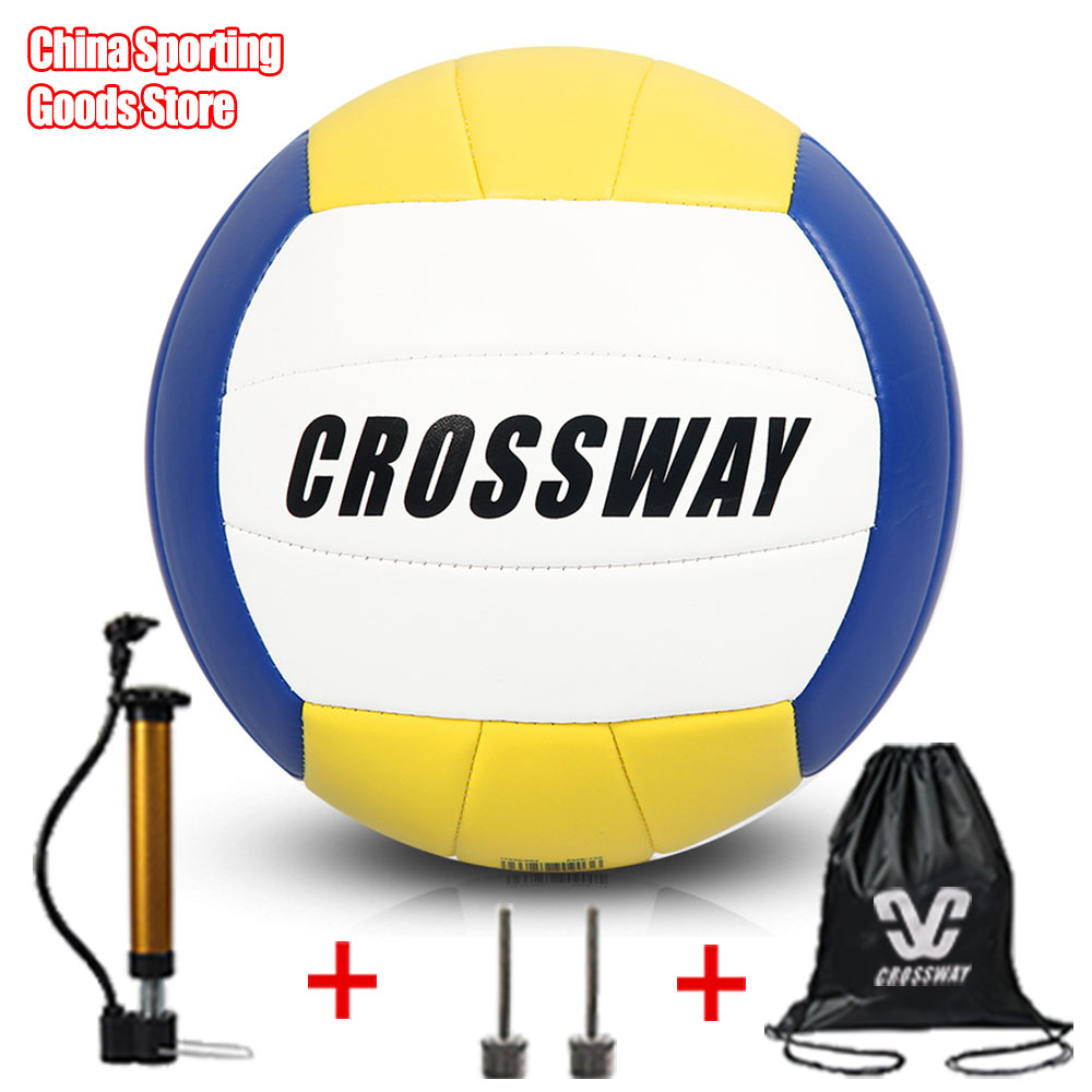 Brand soft volleyball, special volleyball for training match, special ball for indoor match, free air pump + air needle + bag