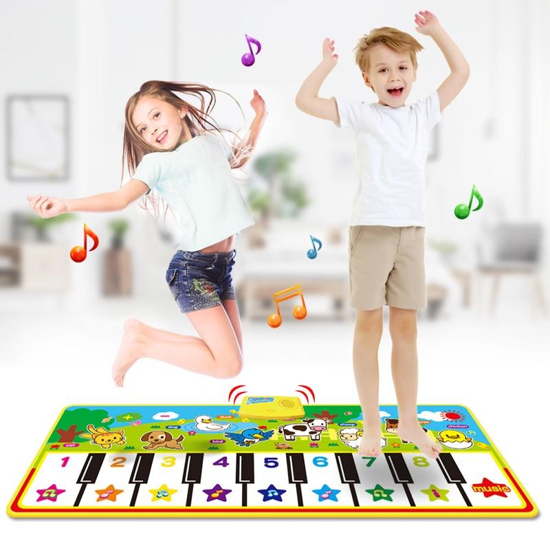 מוסיקלי מחצלת עם בעלי החיים קול תינוק פסנתר משחק שטיח מוסיקה משחק מכשיר מונטסורי צעצוע מוקדם צעצועים חינוכיים לילדים