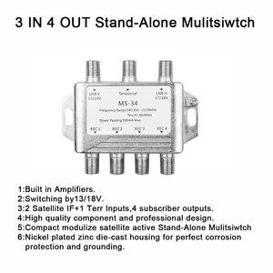 Image 5 - MS34EZ 3X4 Satellite MultiSwitch Splitter FTA TV LNBสำหรับCascadeดาวเทียม3ใน4 Multiswitchดีขายส่ง