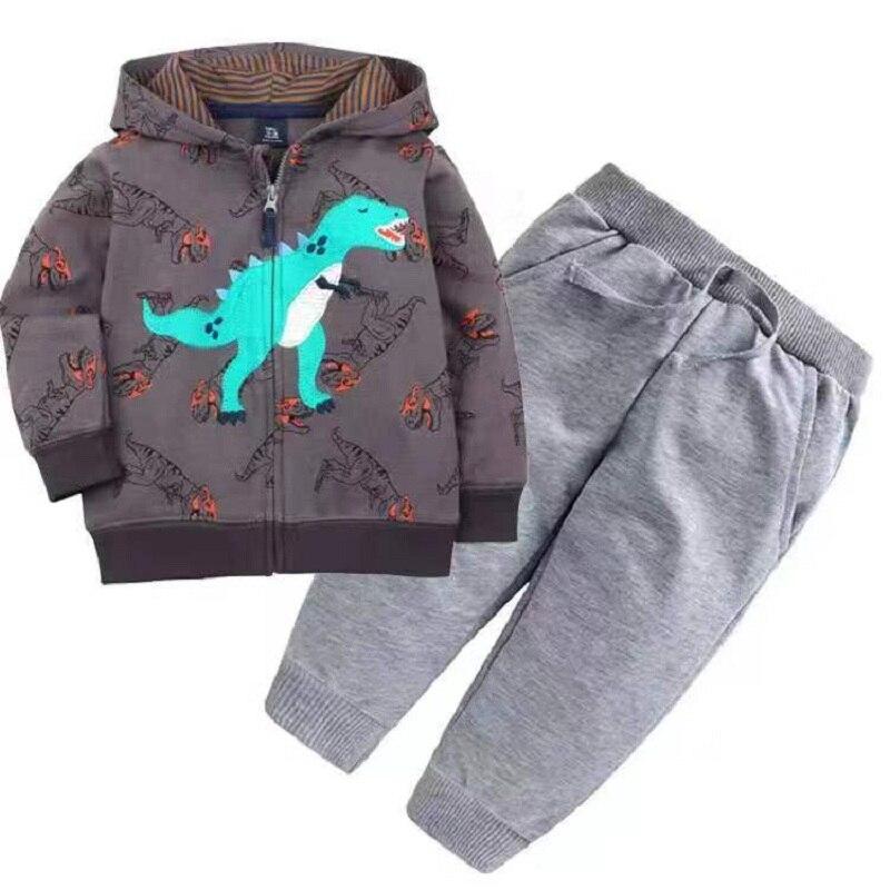Одежда для маленьких девочек пальто с капюшоном с длинными рукавами и вышитым единорогом+ штаны, г. Весенняя одежда для маленьких мальчиков комплект для малышей, одежда для малышей - Цвет: 8