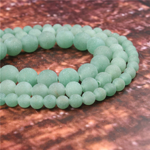 Wholesale Fashion Jewelry Frosted Green Tangling 4/6/8/10 / 12mm Suitable For Making Jewelry DIY Bracelet Necklace