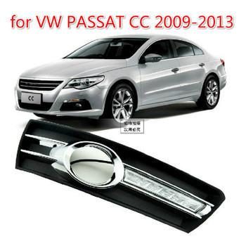 Car 1Pair for VWPASSAT CC 2009 2010 2011 2012 2013 12V LED CAR DRL Daytime running lights with fog lamp hole cover