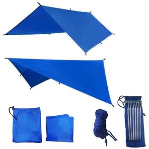 Image 2 - Прибытие от солнца 3 м x 3 м, брезентовый тент, подвесная уличная водонепроницаемая палатка, гамак, лагерь, дождь, сверхлегкий УФ садовый навес, солнцезащитный козырек