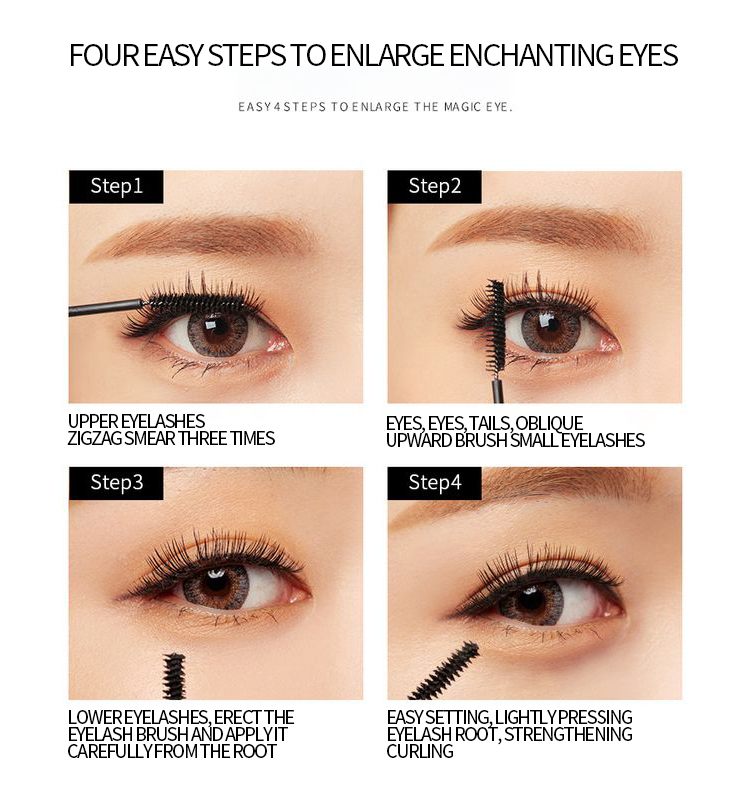 4D Silk Fiber Lash Mascara Long Curling Mascara Makeup Eyelash Black Waterproof Fiber Mascara Eye Lashes Makeup TSLM2 3