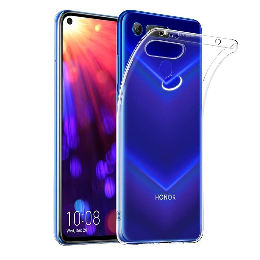 Мягкий ТПУ силиконовый чехол для телефона Huawei Honor View 20 V20, прозрачный чехол-накладка, 360 Защитный ударопрочный чехол видо20 6,4