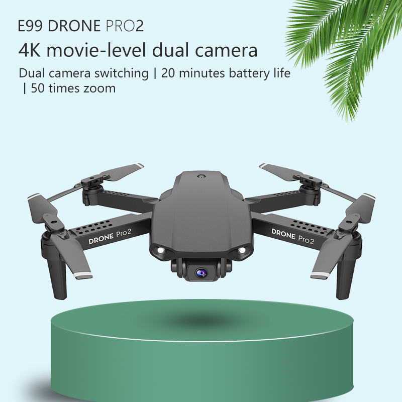 E99 RC Drone  Precision Fixed Point 4K HD Camera Professional Aerial Photography Helicopter Foldable Quadcopter 4
