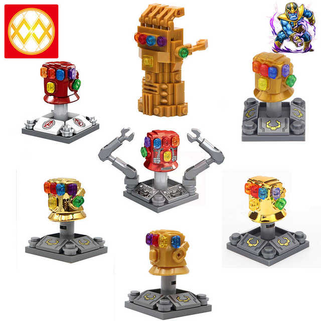Single Super Heroes Avengers 4 Infinity Gauntlet With 36 Power Stones Thanos Gloves Vision Building Blocks For Kids Gift Toys Blocks Aliexpress