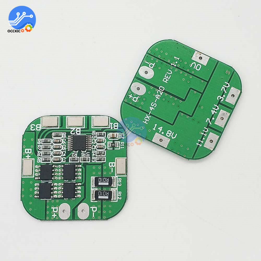 4S 14.8V / 16.8V 20A Peak Li-ion BMS PCM Battery Protection Board BMS PCM For Lithium LicoO2 Limn2O4 18650 LI Battery Module