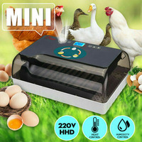 Egg Incubator Digital Fully Automatic 12 Eggs Poultry Hatcher for Chickens Ducks XHC88