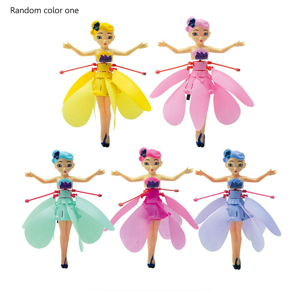 Flying Angel Dolls Princess Induction Control Flying Dolls Remote Control Flying Toys For Children Girl Creative Gift Drone