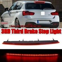 AU04-красные линзы, полный светодиодный Задняя Крышка багажника третьей 3Rd стоп светильник для хэтчбеков BMW серий 1 E88 E82 2007-2013 63257164978