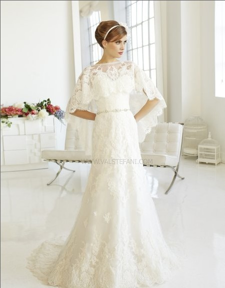 New Fashion 2018 Elegant Beaded Belt Vintage Finished Tulle White Lace Bridal Gown With Jacket Mother Of The Bride Dresses
