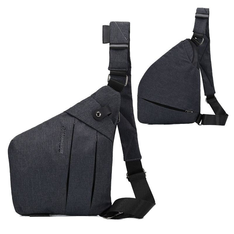 Chest Pack Men 2019 New Style One-Shoulder Chest Bag Anti-theft Backpack Gun Pack Large Capacity Travel Light Reflective Backpac