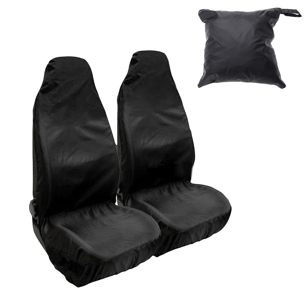 2 Types Universal Heavy Duty Nylon Car Seat Covers Waterproof Protectors Front Rear Anti Dirt Cushion Washable Auto Accessories
