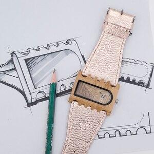 Image 2 - BOBO BIRD Fishbone นาฬิกากรณีกว้างสายนาฬิกาสุภาพสตรีคริสต์มาสของขวัญ Drop Shipping CUSTOM โลโก้ของคุณ
