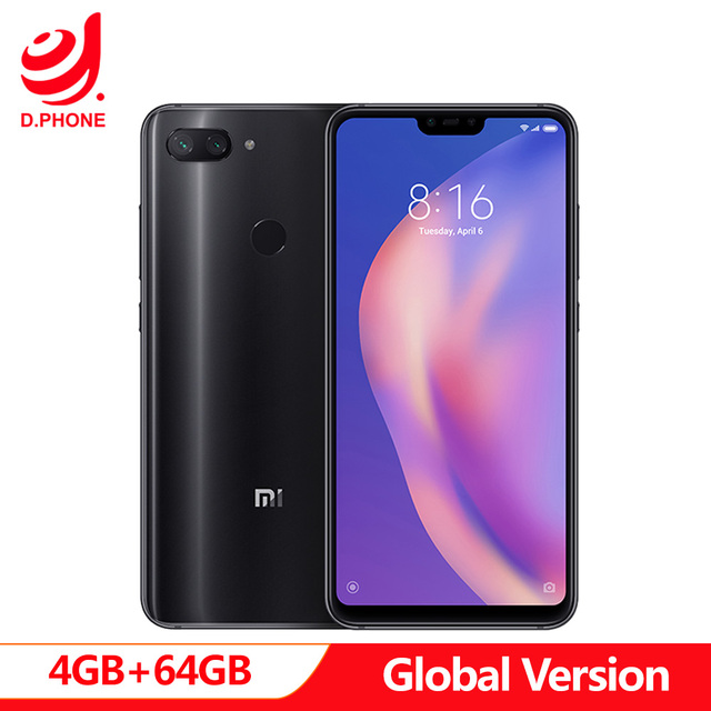 "Global Versie Xiao mi mi 8 mi 8 lite 4 gb Ram 64GB Rom snapdragon 660 Aie 6.26"" full Screen 24MP Front Camera Mobiel"