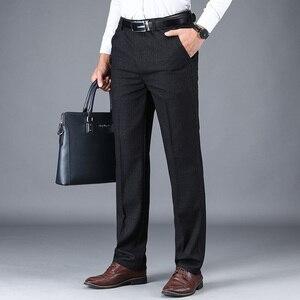 Image 4 - NIGRITY 2019 סתיו חורף גברים של חליפת מכנסיים ישר מכנסיים באיכות גבוהה אופנה גברים קלאסי עסקי שמלת צפצף 3 צבעים