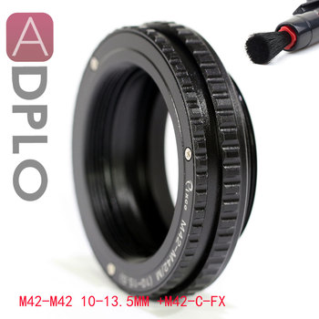 ADPLO M42 to M42 Mount Lens Adjustable Focusing Helicoid Macro Tube Adapter - 10mm to 13.5mm
