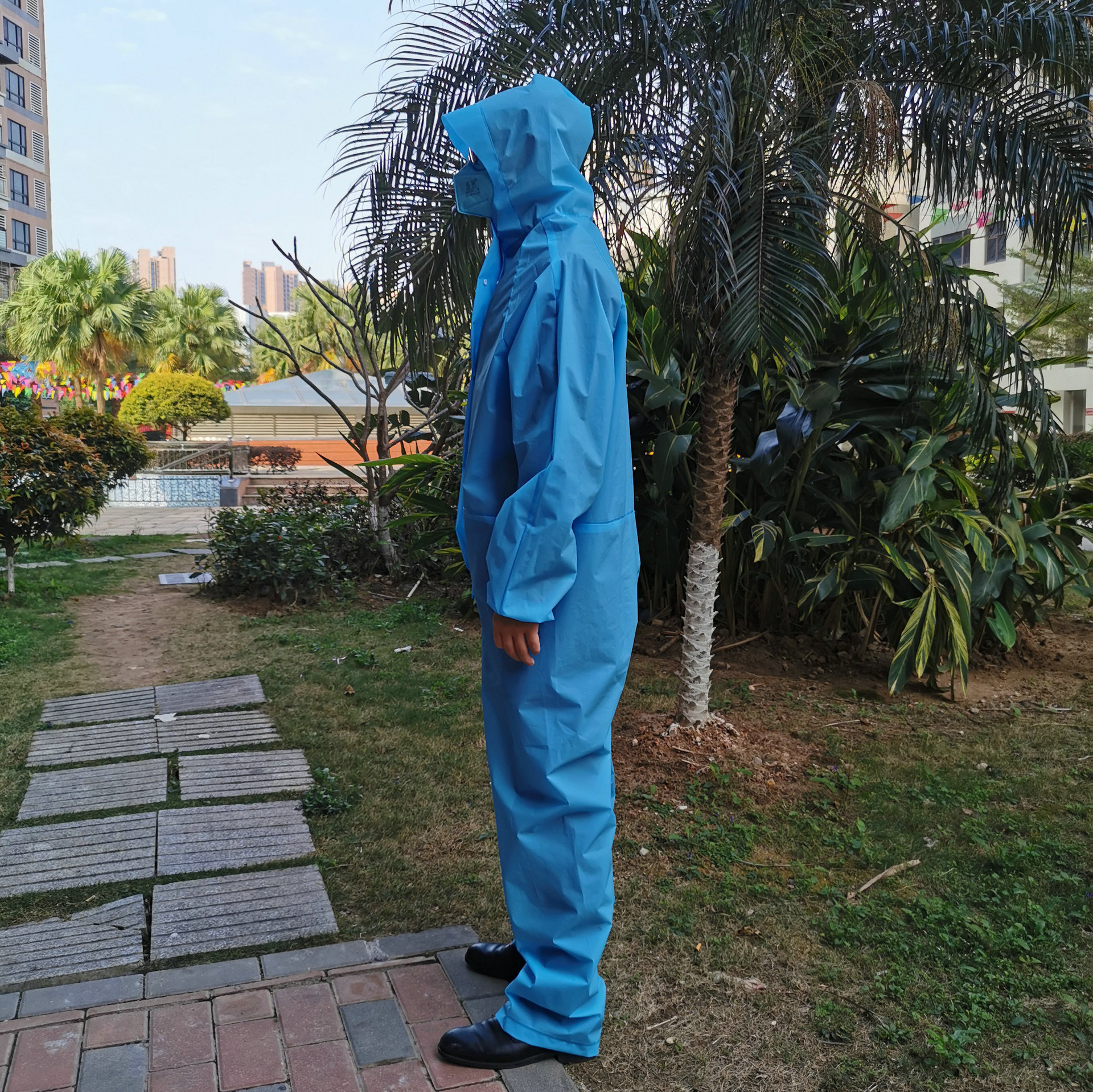 Protection Suit Chemical Protective Clothing Epidemic Prevention Isolation Waterproof Non-Disposable Dustproof Clothes Raincoat