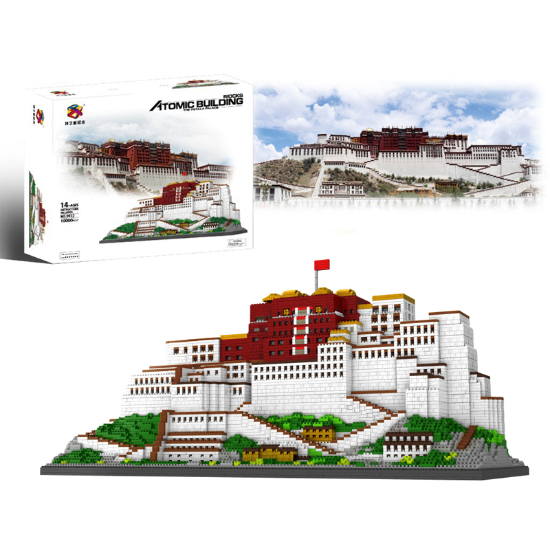 10000pcs+ Potala Palace Building Blocks China Tibet Famous Architecture Micro Brick 9922 Diamond Block Toys For Children