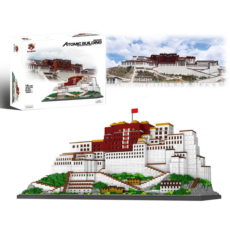 10000pcs+ Potala Palace Building Blocks China Tibet Famous Architecture Micro Brick 9922 Diamond Block Toys For Children