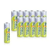 12 sztuk/partia PKCELL NI MH AA bateria 2300 2600MAH 1.2V NIMH akumulatory AA bateria aparatu do latarki, pilot
